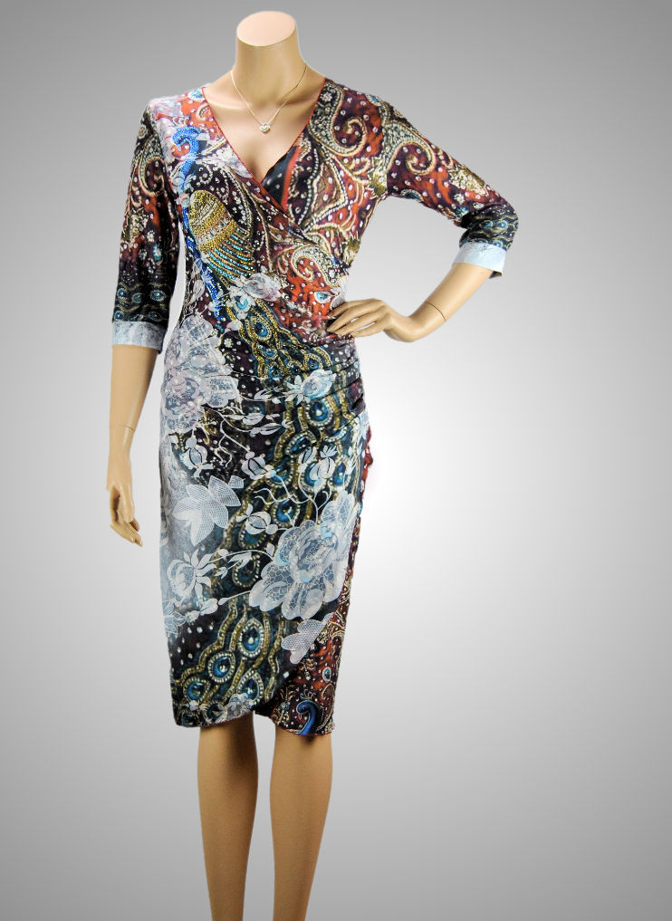 Missy Stretch Kleid Paisley Brokat