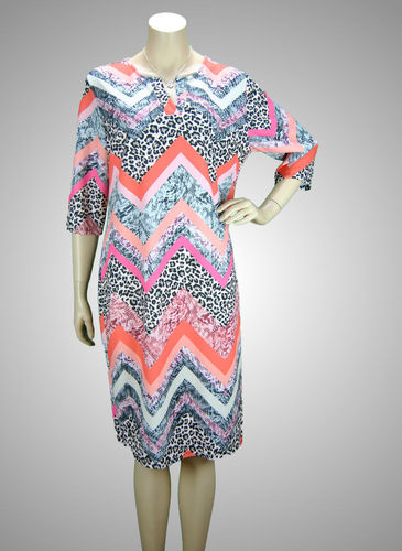 JC Creation Kleid Animalprint bunt