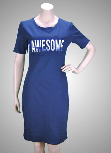 "JC Creation Shirtkleid ""AWESOME"" dunkelblau"