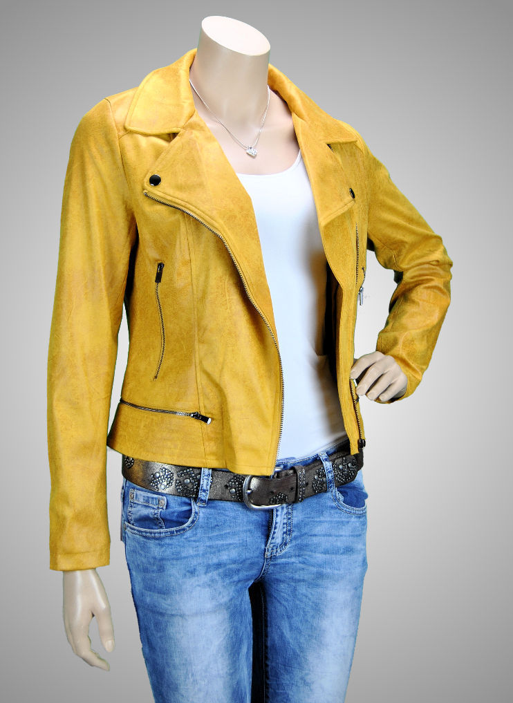 Laura JO Paris Biker-Jacke Curry