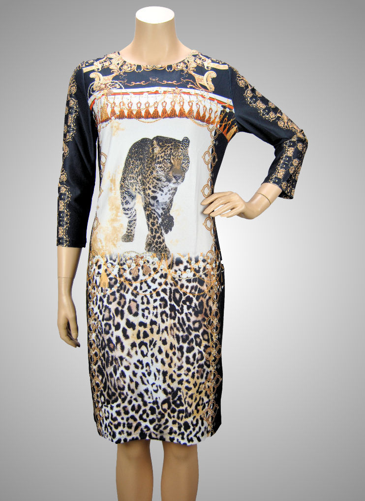 Missy Stretch Kleid Leopard