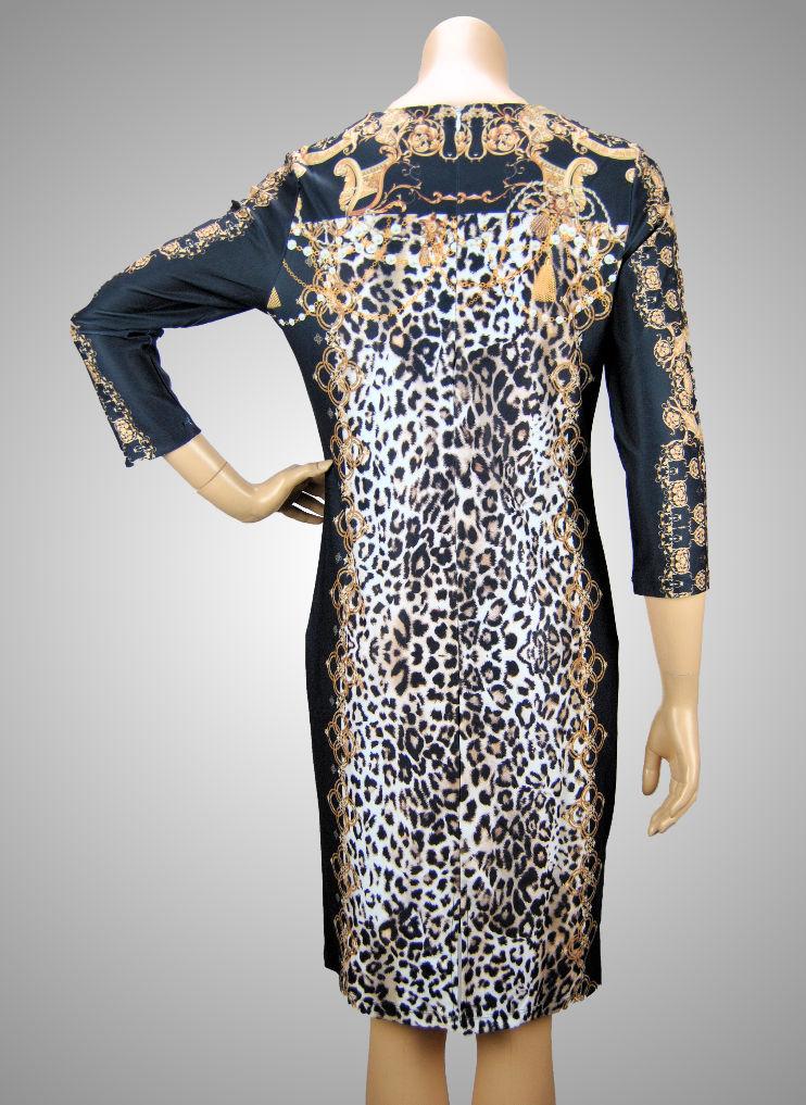 Missy Stretch Kleid Leopard 3/4-Arm toller Schnitt + sehr ...