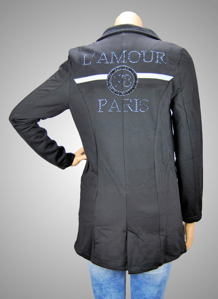 "RAW DENIM 2-Knopf Damen Blazer ""L'AMOUR PARIS"""
